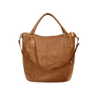 saffiano bowling bag brown